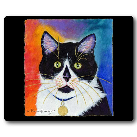 Bootie Cat Art Mousepad by Claudia Sanchez, Claudia's Cats Collection