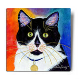Bootie Aluminum Cat Art Print on white background - Claudia Sanchez, Claudia's Cats Collection