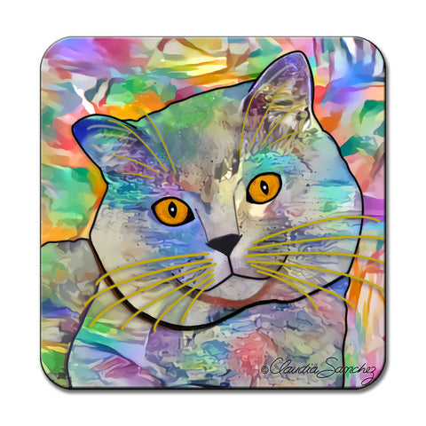 Buddy Guy Jazzy Cat Art Coaster