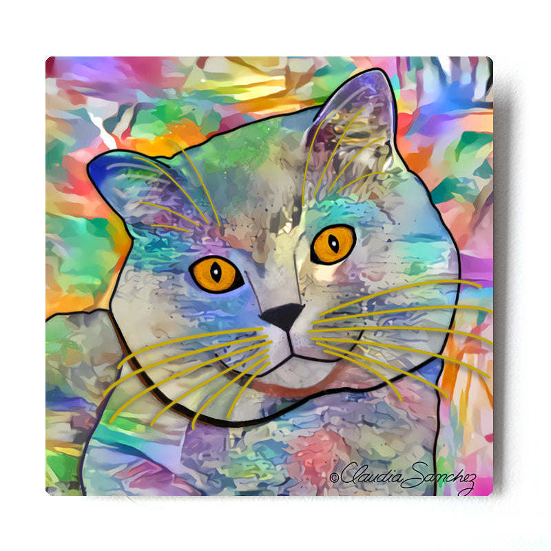 Buddy Guy Jazzy Cat Aluminum Cat Art Print
