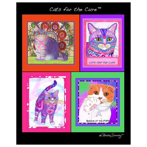 Cats For The Cure Limited Edition Poster by Claudia Sanchez