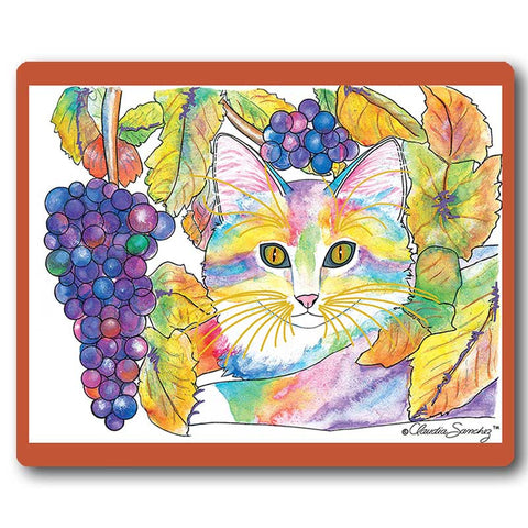 Chianti Cat Art Mousepad by Claudia Sanchez, Claudia's Cats Collection