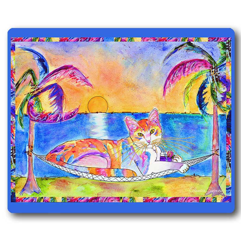 Chucky Laid Back Cat Mousepad by Claudia Sanchez, Claudia's Cats Collection
