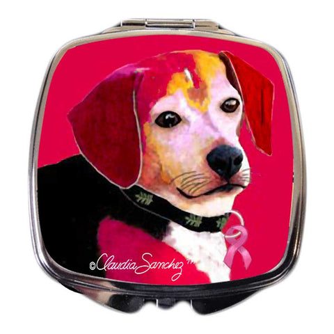 Dog for the Cure Compact Mirror by Claudia Sanchez