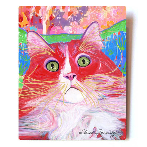 "Dory Red Devil Hot Shot Aluminum Cat Art Print, 8x10"" by Claudia Sanchez, Claudia's Cats Collection"