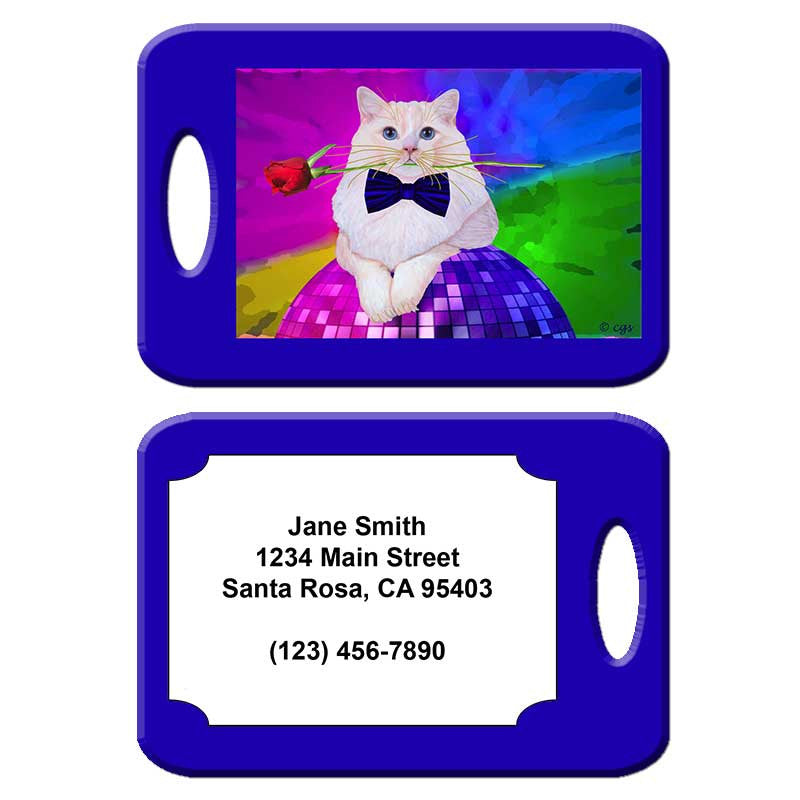 Erik Catango - Cat Art Luggage Tag by Claudia Sanchez