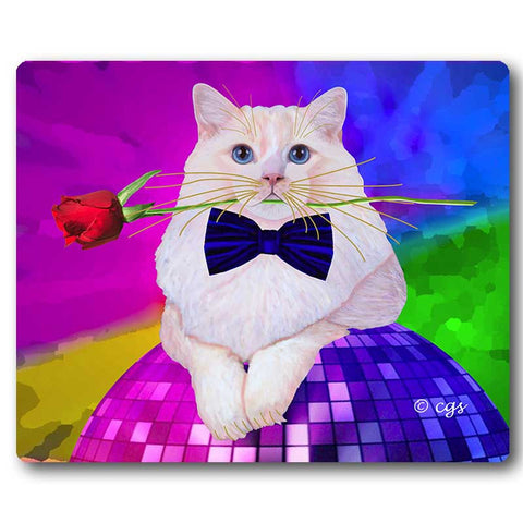 Erik Catango Cat Art Mousepad by Claudia Sanchez, Claudia's Cats Collection