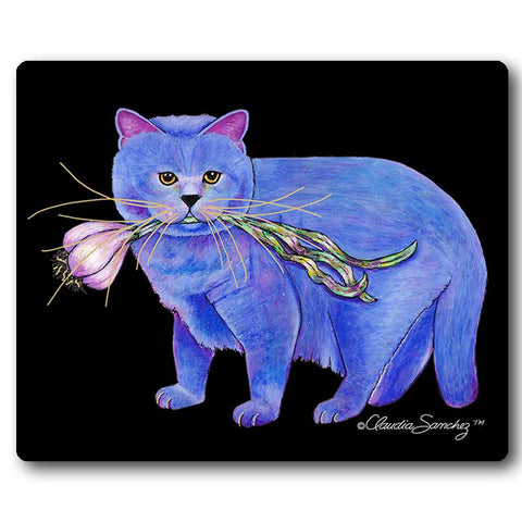 Kayo, Garlic Cat Mousepad by Claudia Sanchez, Claudia's Cats Collection