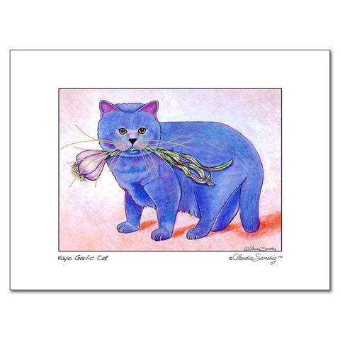 Kayo, Garlic Cat, Archival Matted Cat Art Print