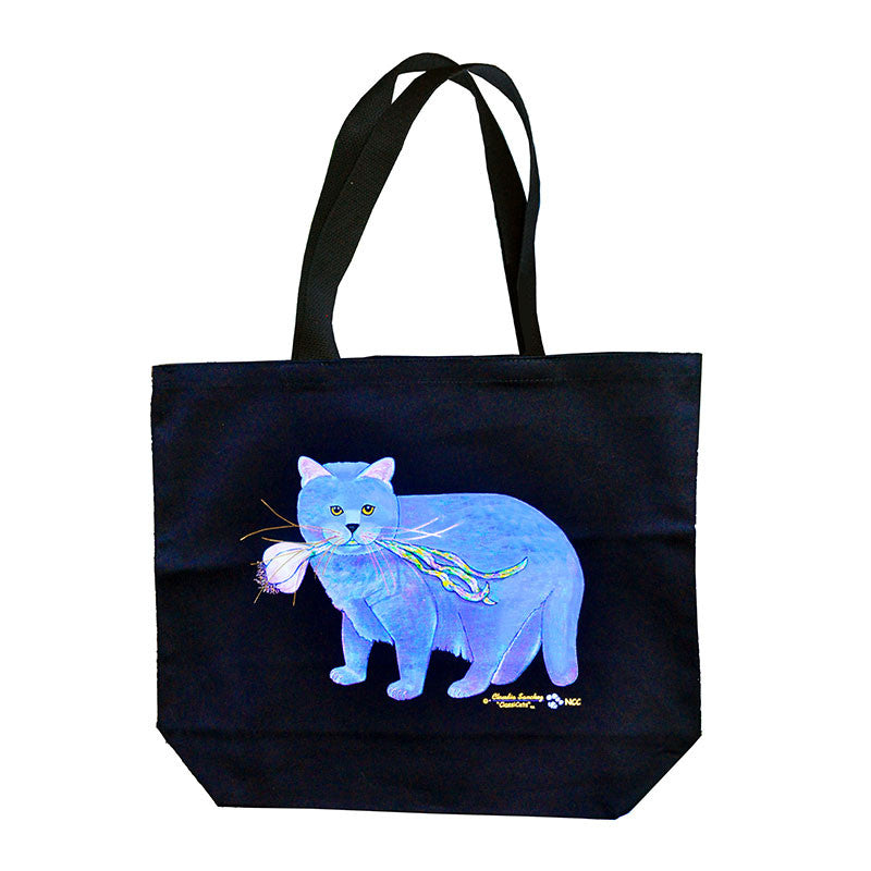 Kayo, Garlic Cat Tote Bag by Claudia Sanchez, Claudia's Cats Collection
