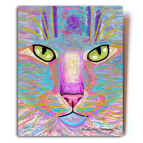 Goophie Aluminum Cat Art print by Claudia Sanchez, Claudia's Cats Collection