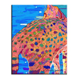 Got Kiara Back? 8x10 Decorative Ceramic Cat Art Tile by Claudia Sanchez