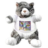 Claudia Sanchez Stuffed plush grey cat - Napper's eyes