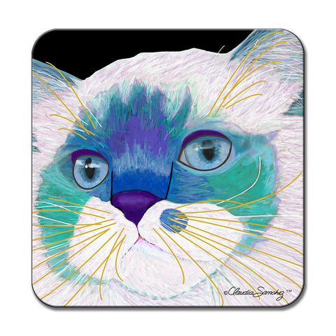 Juliet's Face Cat Art Coaster