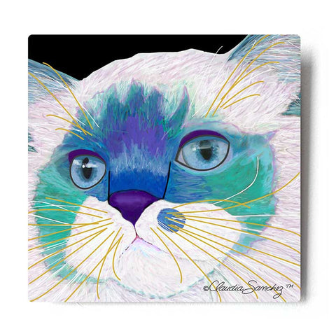 Juliette's Face Cat Art Print by Claudia Sanchez, Claudia's Cats Collection