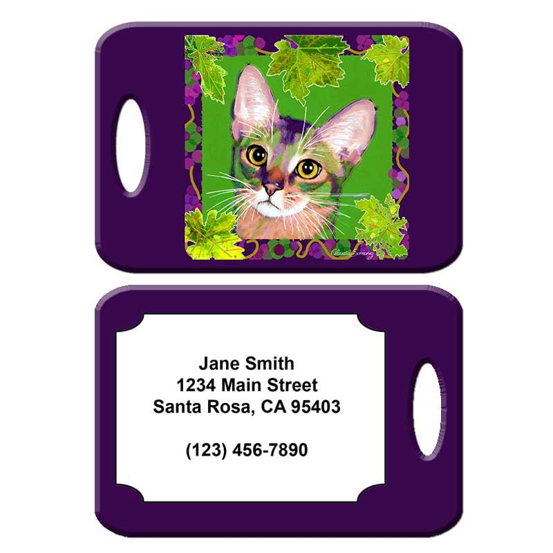 Kauhi, Prince of Grapes - Cat Art Luggage Tag by Claudia Sanchez