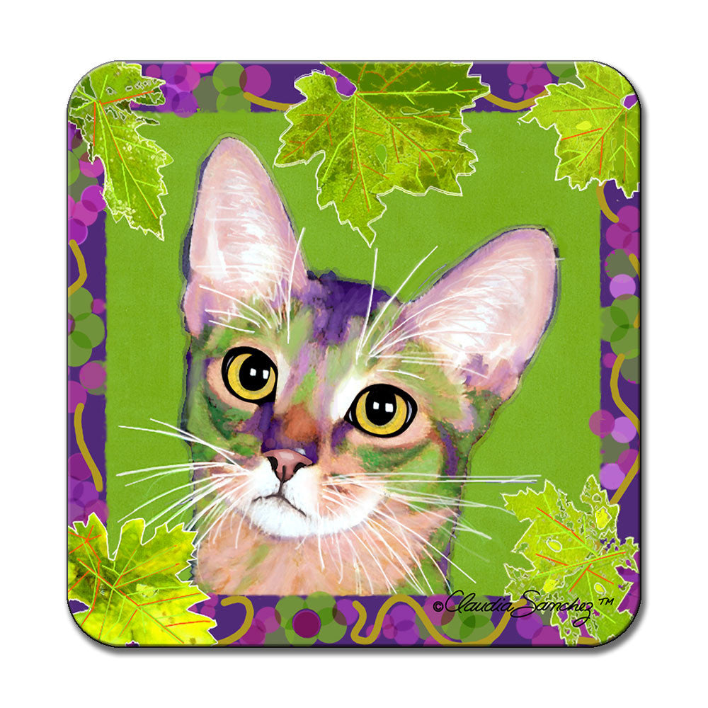 Kauhi Prince of Grapes (Spring Version) Cat Art Coaster