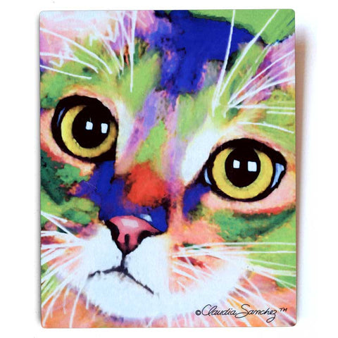Kauhi Eyes Aluminum Cat Art Print, 8x10""