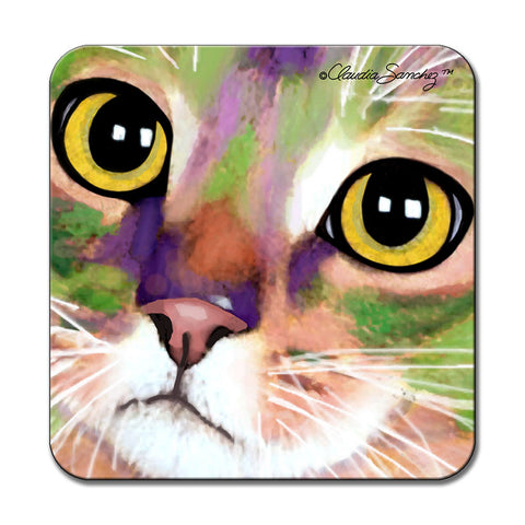 Kauhi Eyes Cat Art Coaster