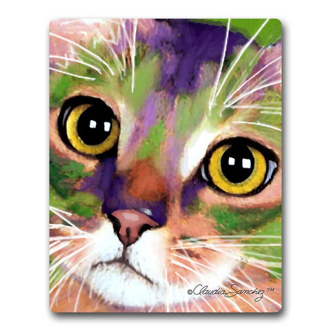 Kauhi Eyes Cat Art Mousepad by Claudia Sanchez, Claudia's Cats Collection