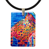Got Kiara's Back Mother of Pearl Cat Art Pendant Necklace by Claudia Sanchez
