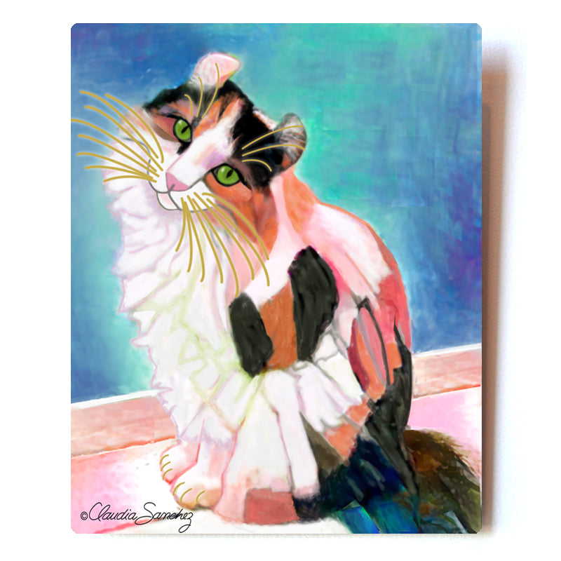 "Keira Model Aluminum Cat Art Print, 8x10"" by Claudia Sanchez"