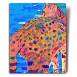 "Got Kiara's Back Aluminum Cat Art Print, 8x10"" by Claudia Sanchez"