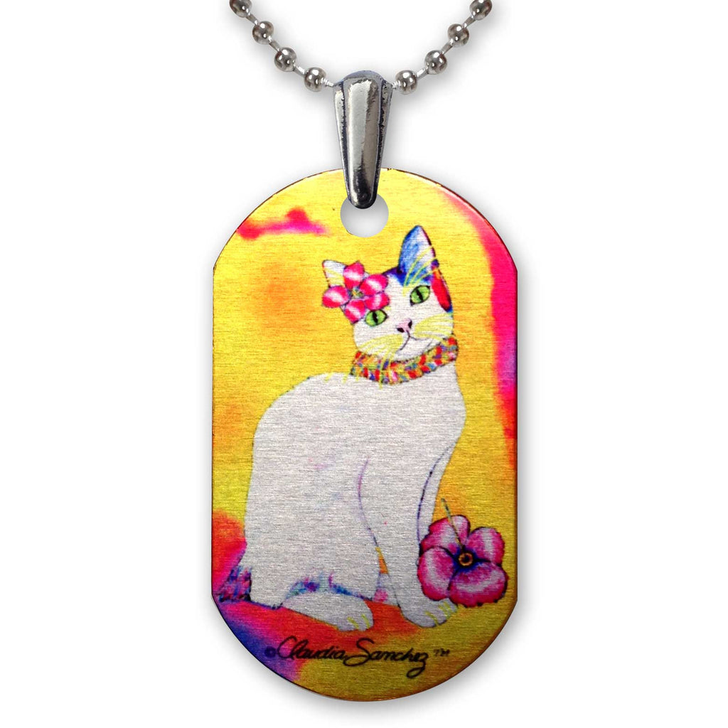 Monica TropiCat Aluminum Pendant Necklace by Claudia Sanchez, Claudia's Cats Collection