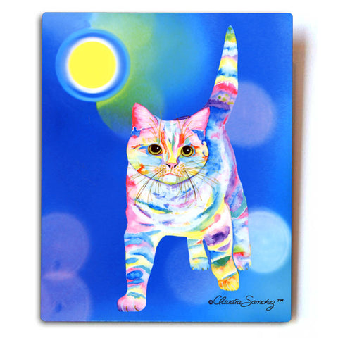 "Morris Bliss Aluminum Cat Art Print, 8x10"" by Claudia Sanchez"