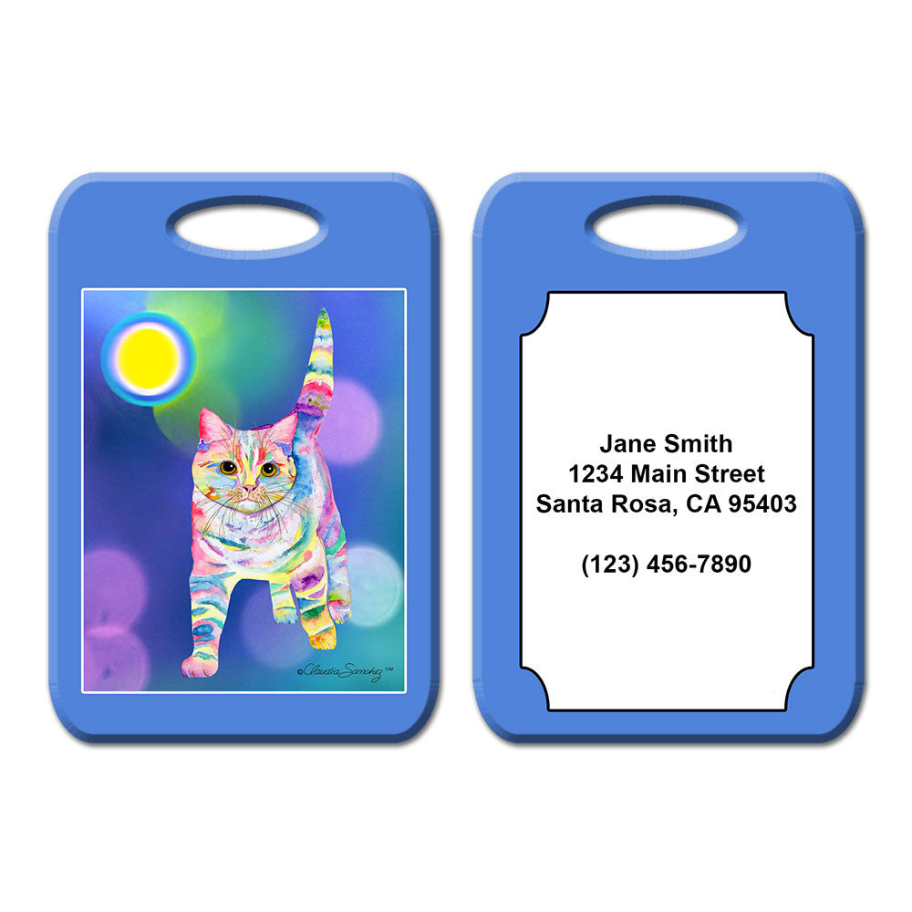 Morris Bliss Cat Art Luggage Tag by Claudia Sanchez