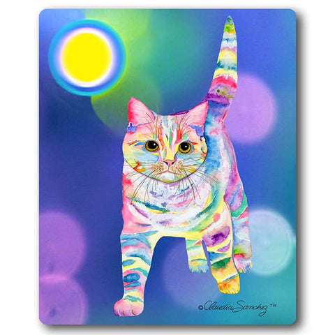 Morris Bliss Cat Art Mousepad by Claudia Sanchez, Claudia's Cats Collection