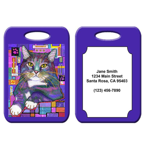 Napper - Cat Art Luggage Tag