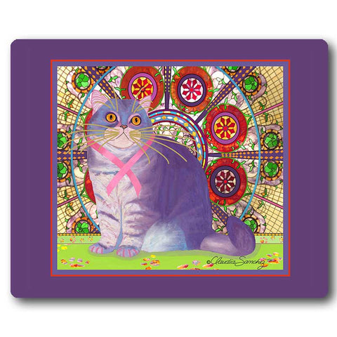 Priscilla's Promise Cat Art Mousepad by Claudia Sanchez, Cats for the Cure