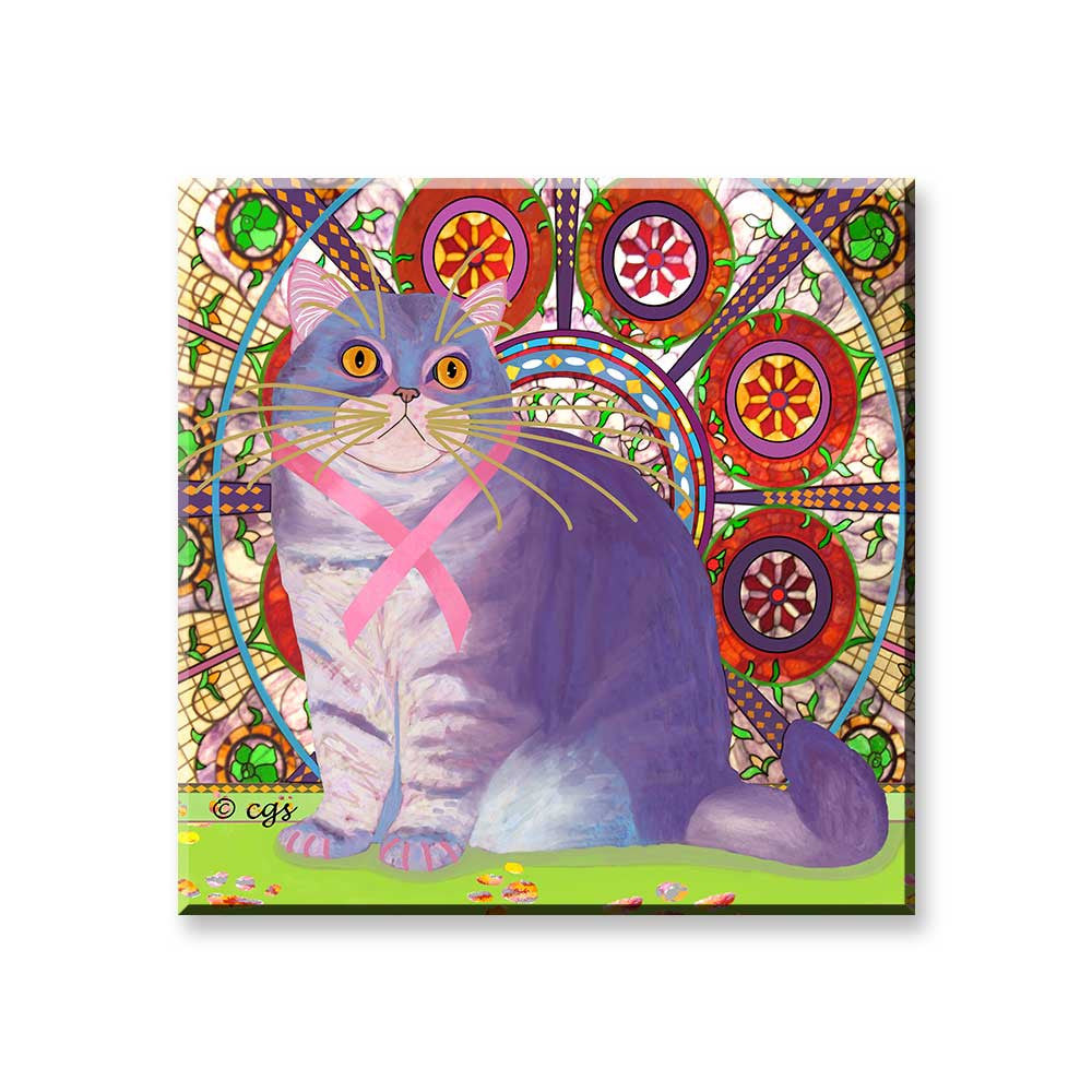 Priscilla's Promise - Cat Art Magnet by Claudia Sanchez