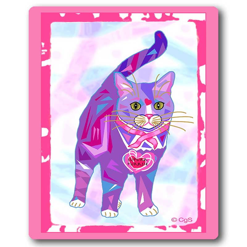 Supurr Purrsie Cat Art Mousepad by Claudia Sanchez, Cats for the Cure