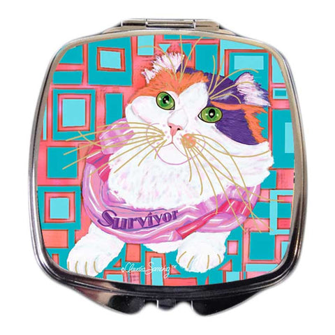 Sabrina Survivor Cat Art Compact Mirror