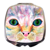 Samantha's Kitten Eyes Compact Mirror by Claudia Sanchez