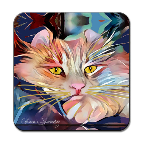 Simba's Gaze Cat Art Coaster