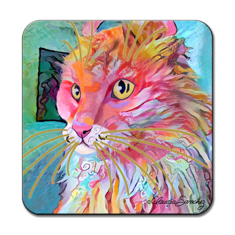 Simba's Profile Cat Art Coaster