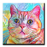 Spotty Decorative Ceramic Cat Art Tile