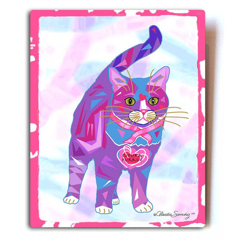 "Supurr Purrsie Aluminum Cat Art Print, 8x10"" by Claudia Sanchez, Cats for the Cure"