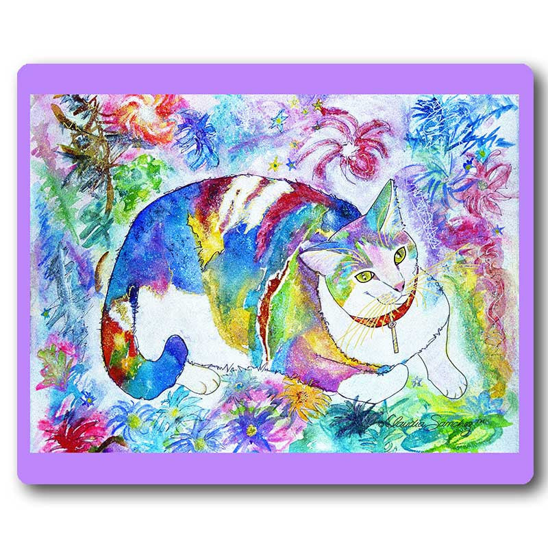 Tami Sue Cat Art Mousepad by Claudia Sanchez, Claudia's Cats Collection