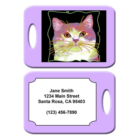 Will McFinn - Cat Art Luggage Tag by Claudia Sanchez