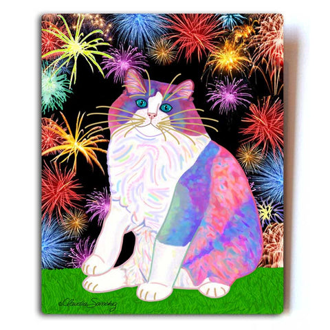 Zapata's Celebration Time Ragdoll Cat Art by Claudia Sanchez