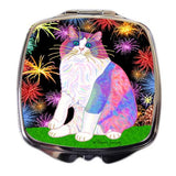 Zapata's Celebration Time - Ragdoll Cat Art Compact Mirror by Claudia Sanchez