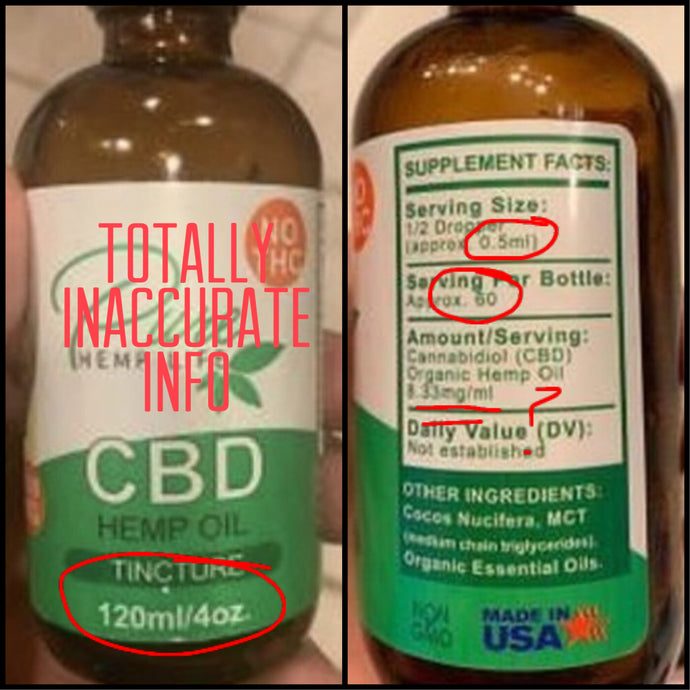 Read the label!! Does it make sense?