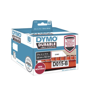 DYMO® LabelWriter Durable Labels 59 mm x 102 mm White Poly, 300 labels (1933088)