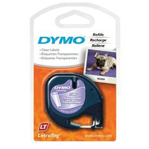 Dymo LetraTag Plastic Clear Label Tape (16952)