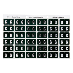 Avery G Side Tab Colour Coding Labels for Lateral Filing, 25 x 38 mm, Dark Green, 180 Labels (43307)