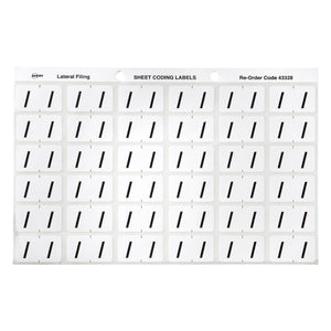 Avery / Side Tab Colour Coding Labels for Lateral Filing, 25 x 38 mm, White, 180 Labels (43328)